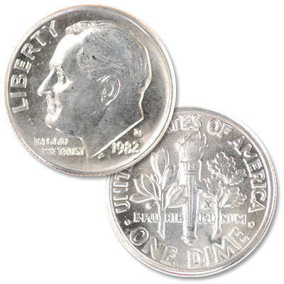 Image for 1982-D Roosevelt Dime from Littleton Coin Company