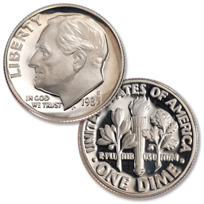 Image for 1983-S Roosevelt Dime from Littleton Coin Company