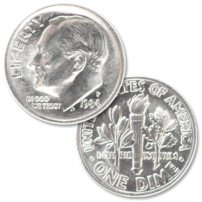 Image for 1984-P Roosevelt Dime from Littleton Coin Company