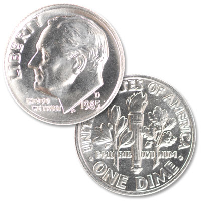 Image for 1985-D Roosevelt Dime from Littleton Coin Company