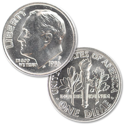 Image for 1986-P Roosevelt Dime from Littleton Coin Company