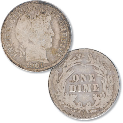 Image for 1901-O Barber Silver Dime from Littleton Coin Company