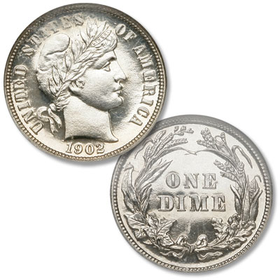Image for 1902 Barber Silver Dime from Littleton Coin Company