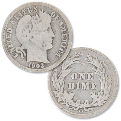Image for 1903-O Barber Silver Dime from Littleton Coin Company