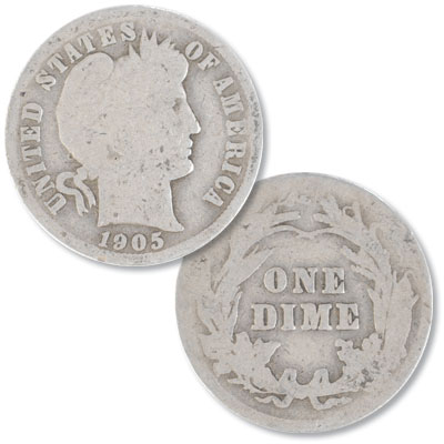 Image for 1905 Barber Silver Dime from Littleton Coin Company
