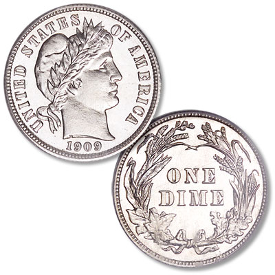 Image for 1909 Barber Silver Dime from Littleton Coin Company