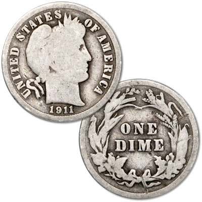 Image for 1911 Barber Silver Dime from Littleton Coin Company