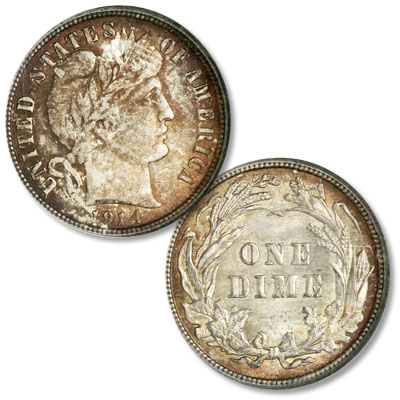 Image for 1914 Barber Silver Dime from Littleton Coin Company