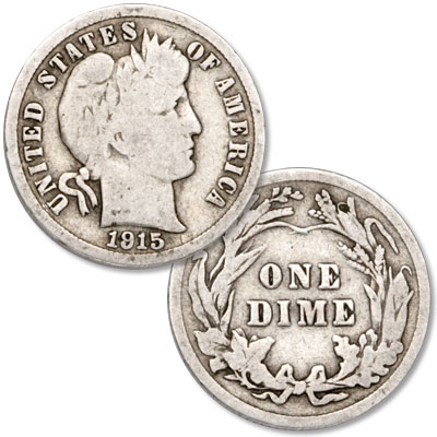 Image for 1915 Barber Silver Dime from Littleton Coin Company