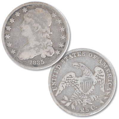 Image for 1835 Capped Bust Silver Quarter from Littleton Coin Company