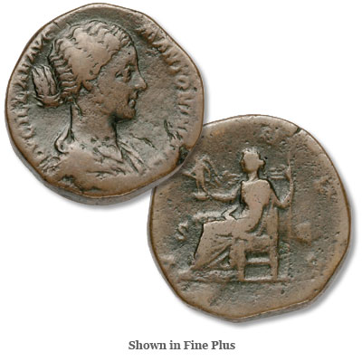 Image for A.D. 164-182 Lucilla Bronze Sestertius from Littleton Coin Company