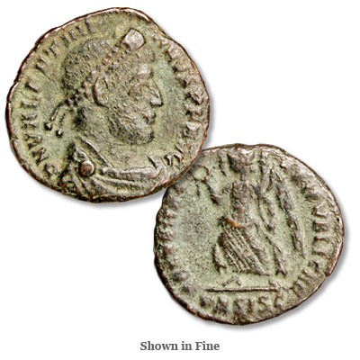 Image for A.D. 364-375 Valentinian I Bronze Reduced Follis from Littleton Coin Company