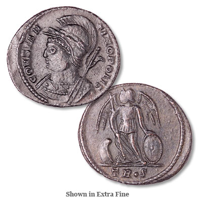 Image for A.D. 330-335 Constantine I Constantinopolis Victory, Angel Reverse from Littleton Coin Company