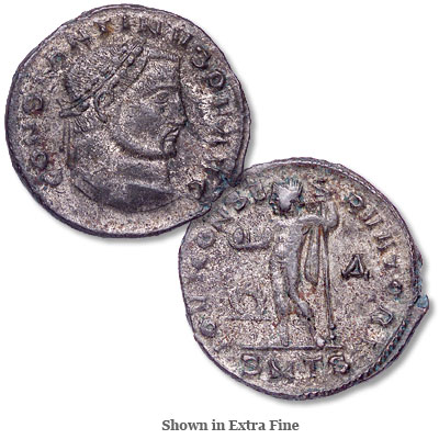 Image for A.D. 307-337 Constantine I Bronze-Silvered Follis from Littleton Coin Company