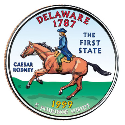 Image for 1999 Colorized Delaware Statehood Quarter from Littleton Coin Company