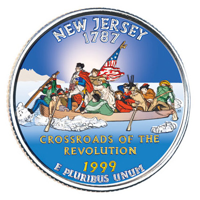 Image for 1999 Colorized New Jersey Statehood Quarter from Littleton Coin Company