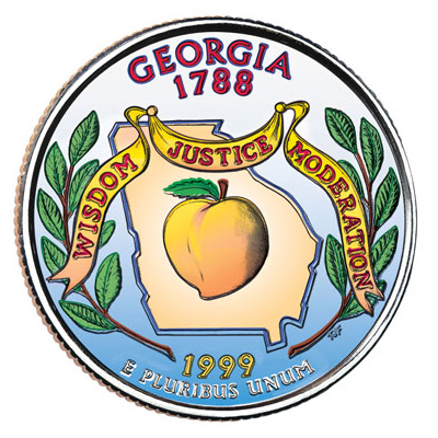 Image for 1999 Colorized Georgia Statehood Quarter from Littleton Coin Company