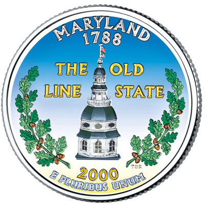 Image for 2000 Colorized Maryland Statehood Quarter from Littleton Coin Company