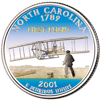 Image for 2001 Colorized North Carolina Statehood Quarter from Littleton Coin Company