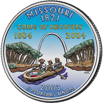 Image for 2003 Colorized Missouri Statehood Quarter from Littleton Coin Company