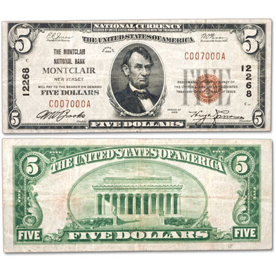 Image for Series 1929 $5 National Bank Note, Type 1 from Littleton Coin Company