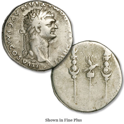 Image for A.D. 81-96 Domitian Silver Cistaphoric Tetradrachm from Littleton Coin Company
