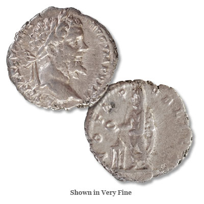 Image for A.D. 193-211 Septimius Severus Silver Denarius, Very Fine from Littleton Coin Company