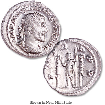 Image for A.D. 235-238 Maximinus I Silver Denarius from Littleton Coin Company