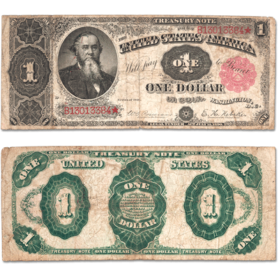 Image for 1891 $1 Treasury Note from Littleton Coin Company