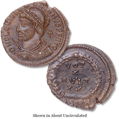 Image for A.D. 360-363 Julian II Bronze Reduced Follis from Littleton Coin Company