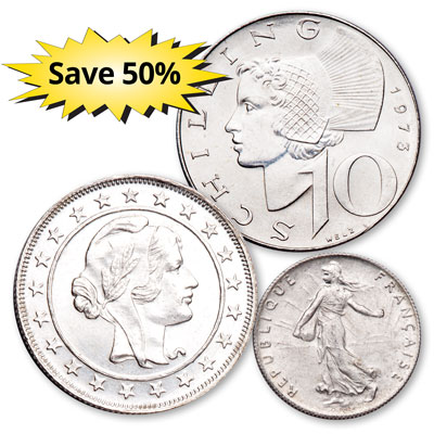 Image for Classic Silver Coins of the World Club from Littleton Coin Company