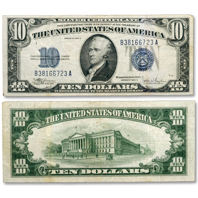 Image for 1934C $10 Silver Certificate from Littleton Coin Company