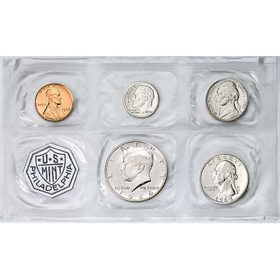 Image for 1964 U.S. Mint Silver Proof Set (5 coins), Choice Proof, PR63 from Littleton Coin Company