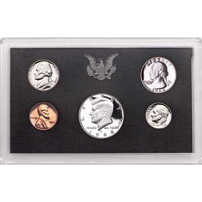 Image for 1968-S U.S. Mint Clad Proof Set (5 coins), Choice Proof, PR63 from Littleton Coin Company