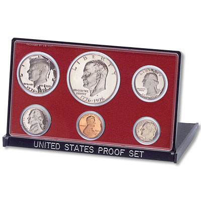 Image for 1975-S U.S. Mint Clad Proof Set (6 coins), Choice Proof, PR63 from Littleton Coin Company