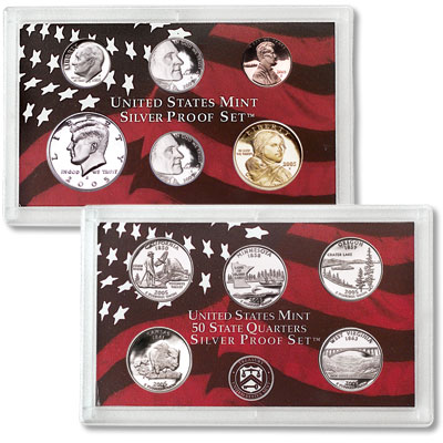 Image for 2005-S U.S. Mint Silver Proof Set (11 Coins), Choice Proof, PR-63 from Littleton Coin Company