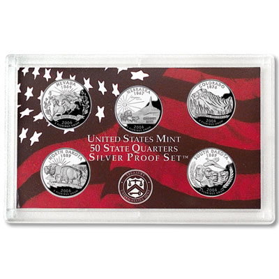 Image for 2006-S U.S. Mint Statehood Quarters Silver Proof Set (5 coins), Choice Proof, PR63 from Littleton Coin Company