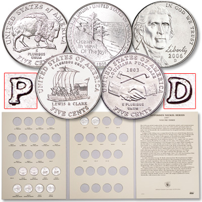 Image for 2004-2006 P&D Westward Journey Nickel Set with Folder from Littleton Coin Company