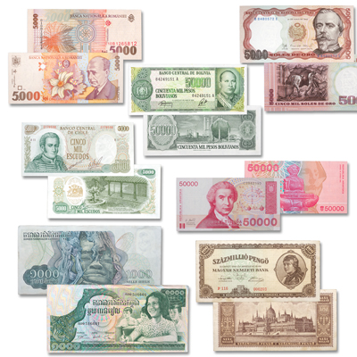 Image for High-Denomination World Bank Note Set from Littleton Coin Company