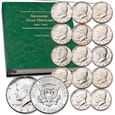 Image for 1964-1987 Kennedy Half Dollar Set wtih Album from Littleton Coin Company
