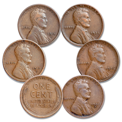 Image for 1912-1931 Low-Mintage Lincoln Head Cent Set from Littleton Coin Company