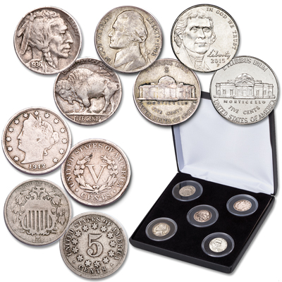 Image for 150th Anniversary Nickel Type Set from Littleton Coin Company