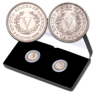 "Image for 1883 ""No Cents"" & 1910-1912 ""With Cents"" Liberty Head Nickel Set from Littleton Coin Company"