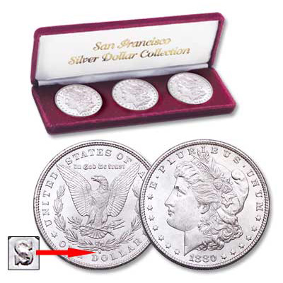 Image for 1880-1882 San Francisco Morgan Silver Dollar Set (3 coins), Uncirculated from Littleton Coin Company