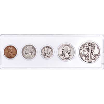 Image for 1941 5-Coin Silver Year Set, Circulated from Littleton Coin Company