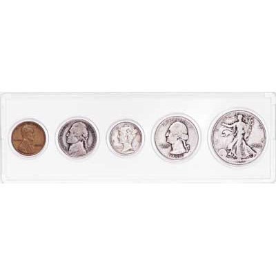 Image for 1944 5-Coin Silver Year Set, Good/Very Good from Littleton Coin Company