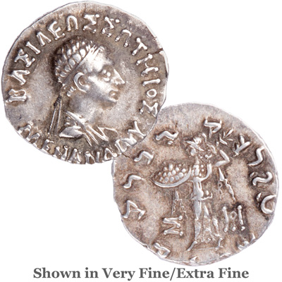 Image for 155-130 B.C. Menander I Silver Drachm from Littleton Coin Company