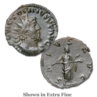 Image for A.D. 269-271 Victorinus Bronze Antoninianus Salus from Littleton Coin Company