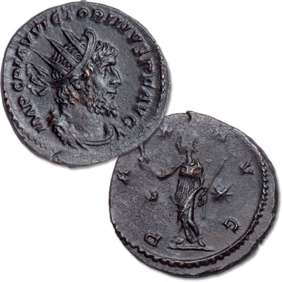 Image for A.D. 269-271 Victorinus Bronze Antoninianus, Pax Reverse from Littleton Coin Company