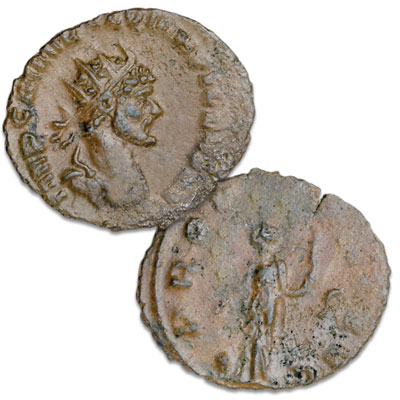 Image for A.D. 270 Quintillus Bronze Antoninianus from Littleton Coin Company